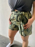 Shorts Object Objfana Black/Leaves