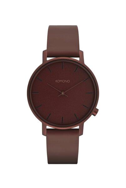 Armbanduhr Komono Harlow Monochrome Burgundy