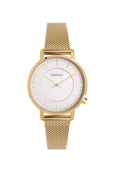 Armbanduhr Komono Harlow Gold Mesh