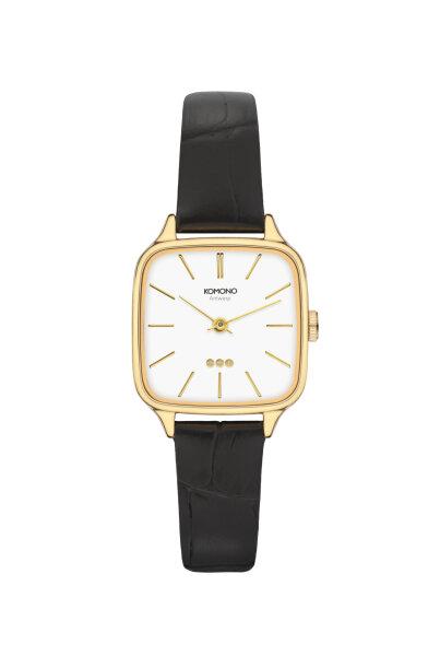 Armbanduhr Komono Kate Croco Black
