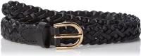 Gürtel Pieces PCAvery Leather Braided Slim Black