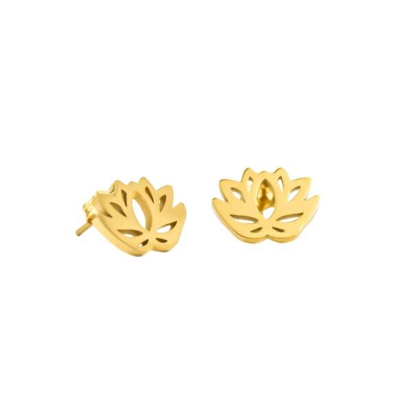 Ohrstecker Lotus Gold Luamaya