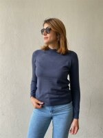 Pullover Pieces PCEsera LS High Neck Knit Ombre Blue