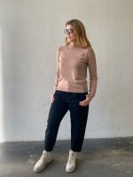 Pullover Pieces PCEsera LS High Neck Knit Natural