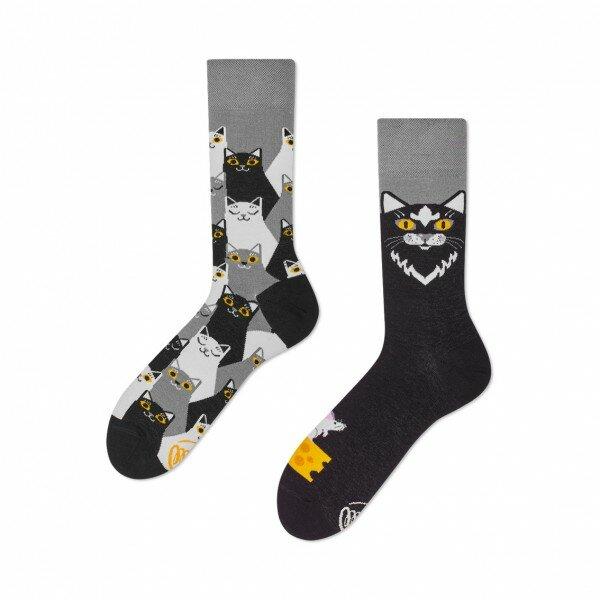 Socken Many Mornings Black Cat