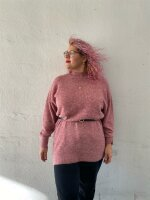 Pullover Object ObjNete High Neck Tunic Withered Rose
